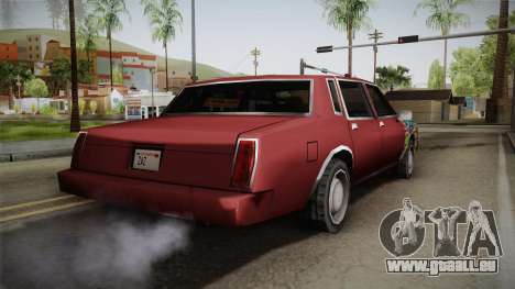 Tahoma Low Sticks pour GTA San Andreas laissé vue