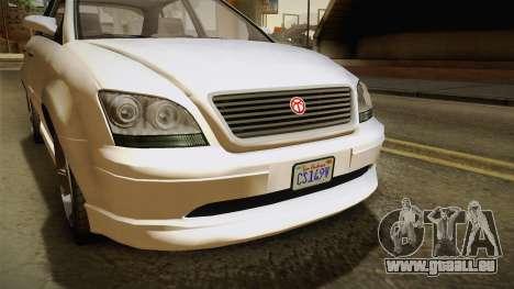 GTA 5 Emperor Habanero IVF für GTA San Andreas Rückansicht