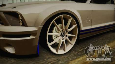 Ford Mustang Shelby GT500KR Super Snake pour GTA San Andreas vue arrière