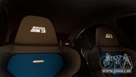 BMW M3 F30 30 Jahre pour GTA San Andreas vue intérieure