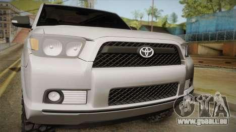Toyota 4runner 2010 pour GTA San Andreas sur la vue arrière gauche