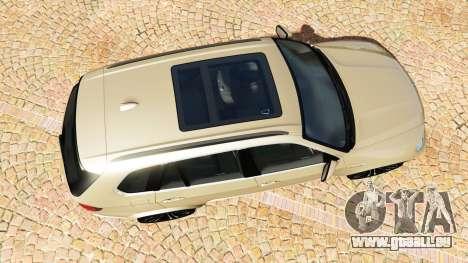 GTA 5 BMW X5 M (E70) 2013 v1.2 [add-on] vue arrière