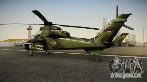 Eurocopter Tiger Extra Skin pour GTA San Andreas laissé vue