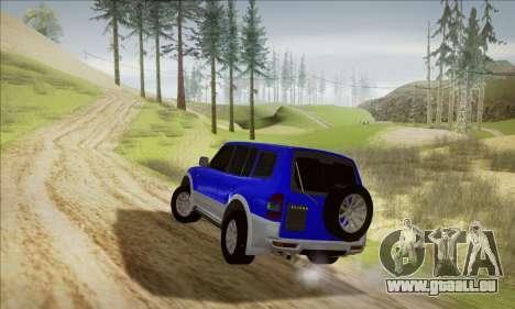 Mitsubishi Pajero 3 Beta für GTA San Andreas zurück linke Ansicht