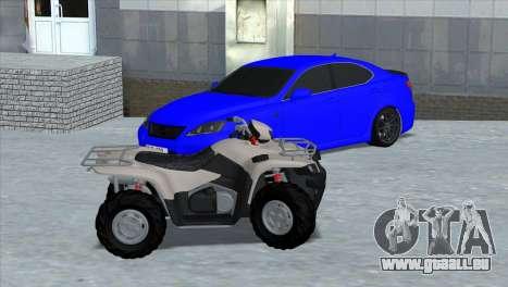 Lexus IS-F pour GTA San Andreas sur la vue arrière gauche