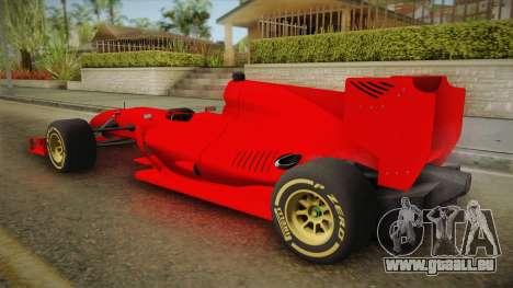 Lotus F1 T125 pour GTA San Andreas laissé vue