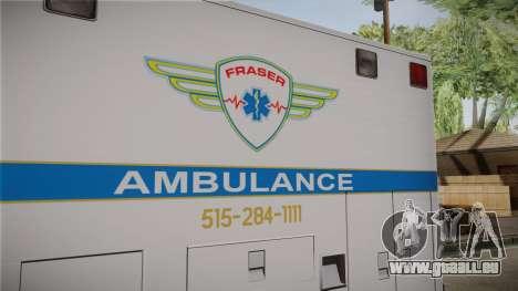 Chevrolet Express 2011 Ambulance pour GTA San Andreas vue de côté