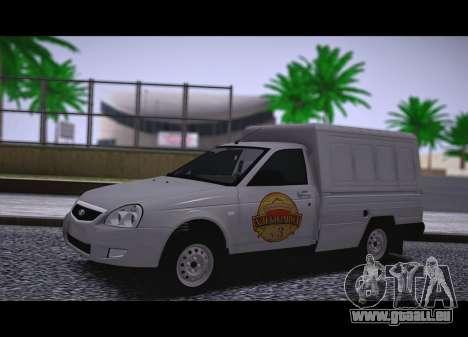 Lada Priora Budka pour GTA San Andreas sur la vue arrière gauche