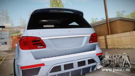 Mercedes-Benz GL63 Brabus pour GTA San Andreas vue de droite
