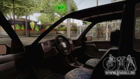 Volkswagen Golf Mk3 Blyatmobile pour GTA San Andreas vue de droite