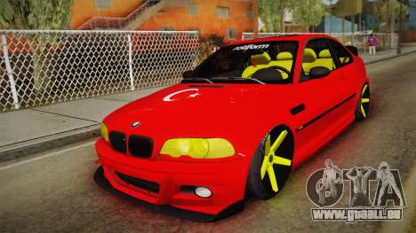 BMW M3 E46 Turkish Stance pour GTA San Andreas