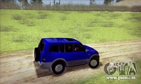 Mitsubishi Pajero 3 Beta für GTA San Andreas Rückansicht