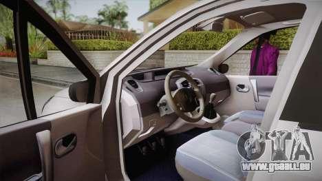 Renault Scenic II für GTA San Andreas rechten Ansicht