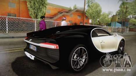 Bugatti Chiron 2017 v2.0 Italian Plate für GTA San Andreas linke Ansicht