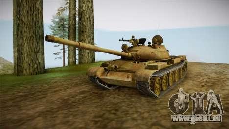T-62 Desert Camo v3 pour GTA San Andreas vue de droite