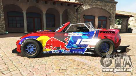 GTA 5 Mazda MX-5 (ND) RADBUL Mad Mike v1.1 [replace] vue latérale gauche