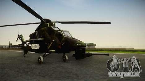Eurocopter Tiger Extra Skin pour GTA San Andreas vue de droite