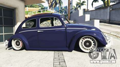 GTA 5 Volkswagen Fusca 1968 v0.9 [add-on] linke Seitenansicht