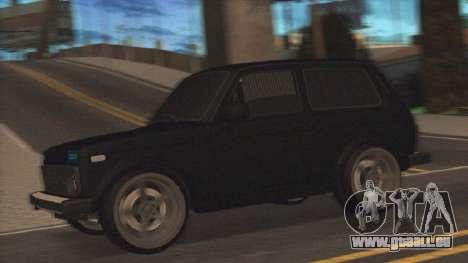 Lada Niva pour GTA San Andreas sur la vue arrière gauche