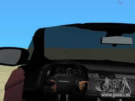 Range Rover Evoque pour GTA Vice City sur la vue arrière gauche