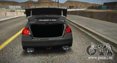 Subaru WRX STI LP400R 2016 für GTA San Andreas zurück linke Ansicht