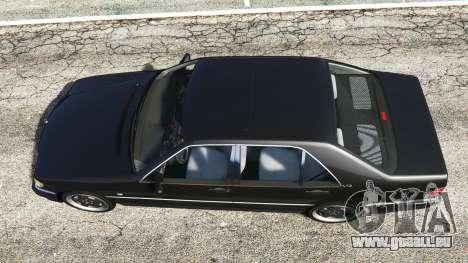 GTA 5 Mercedes-Benz W140 AMG [replace] vue arrière
