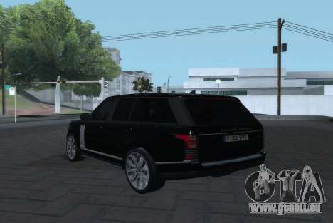 Land Rover Range Rover Vogue pour GTA San Andreas laissé vue