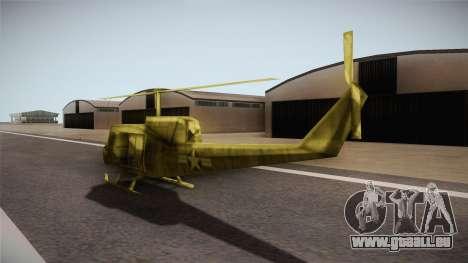 Bell UH-1H from Army Men: Serges Heroes 2 DC pour GTA San Andreas sur la vue arrière gauche