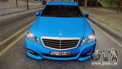 Mercedes-Benz W212 E-class pour GTA San Andreas sur la vue arrière gauche