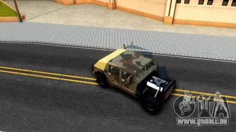 New Patriot GTA V für GTA San Andreas Rückansicht