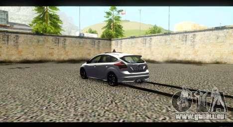 Ford Focus ST 2013 Formation pour GTA San Andreas sur la vue arrière gauche