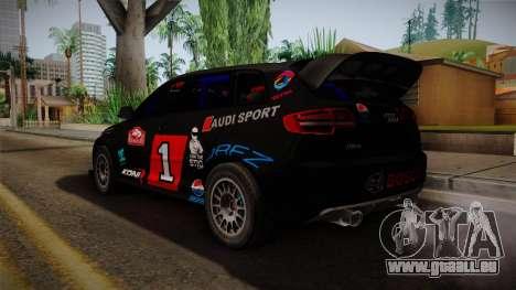 Audi RS3 Sportback Rally WRC für GTA San Andreas linke Ansicht
