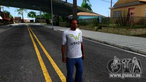 Weezer T-Shirt pour GTA San Andreas deuxième écran