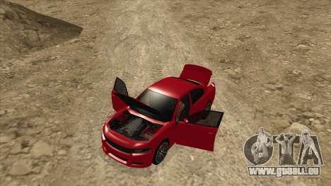 Dodge Charger R/T 2015 für GTA San Andreas Rückansicht