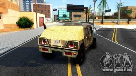 New Patriot GTA V für GTA San Andreas zurück linke Ansicht