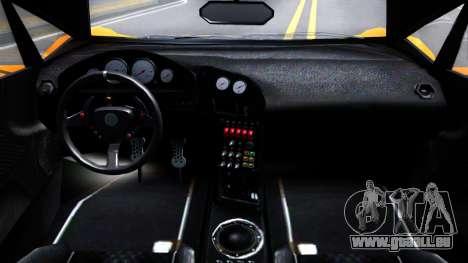 GTA V Pegassi Lampo Roadster pour GTA San Andreas vue intérieure