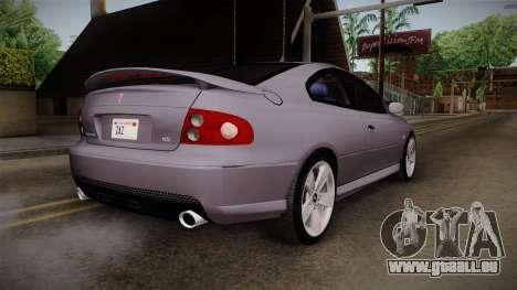 Pontiac GTO Hot Wheels NASCAR PJ pour GTA San Andreas laissé vue