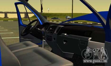 Gazel 3302 Geschäft für GTA San Andreas obere Ansicht