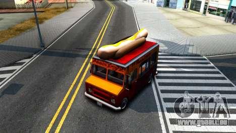 New HotDog Van für GTA San Andreas Innenansicht