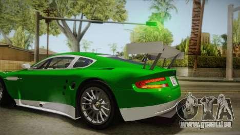 Aston Martin Racing DBR9 2005 v2.0.1 YCH für GTA San Andreas Rückansicht