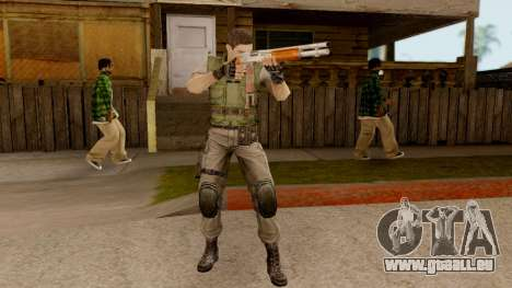 Resident Evil HD - Chris Redfield S.T.A.R.S für GTA San Andreas dritten Screenshot