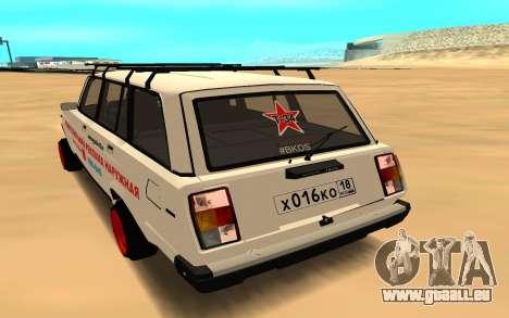 VAZ 2104 BK pour GTA San Andreas laissé vue