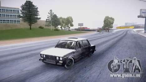 VAZ 2106 winter-version für GTA San Andreas linke Ansicht