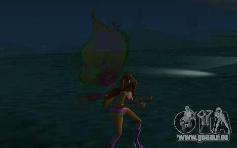 Flora Believix from Winx Club Rockstars pour GTA San Andreas quatrième écran