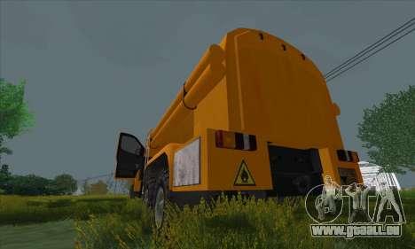 Oural De Carburant Du Camion À Côté pour GTA San Andreas vue de droite