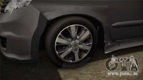 Nissan Grand Livina Highway Star für GTA San Andreas Rückansicht