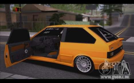 VAZ 2113 Style pour GTA San Andreas sur la vue arrière gauche
