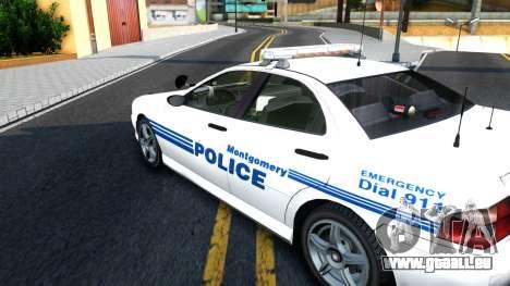 1998 Dinka Chavos Montgomery Police Department pour GTA San Andreas vue de droite