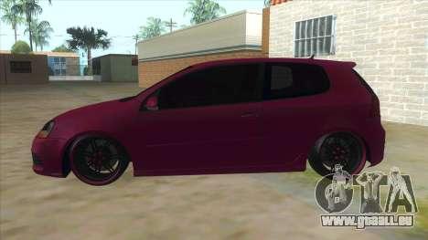 Volkswagen Golf MK pour GTA San Andreas laissé vue
