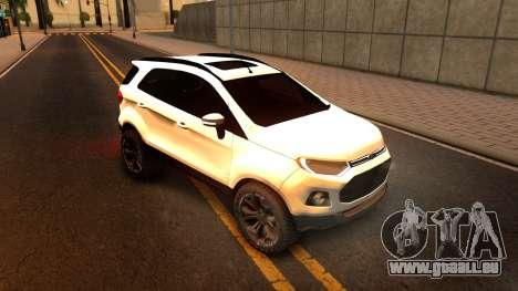 Ford EcoSport 2016 pour GTA San Andreas laissé vue